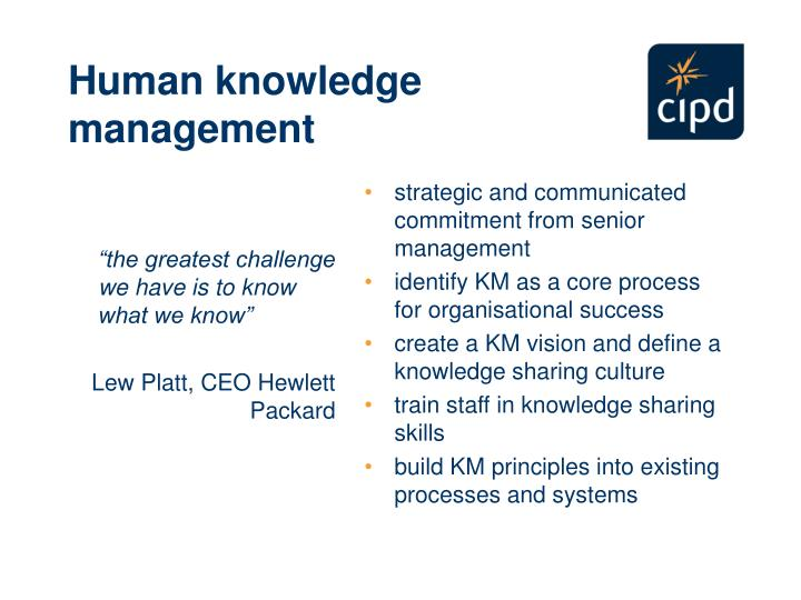 Human knowledge management