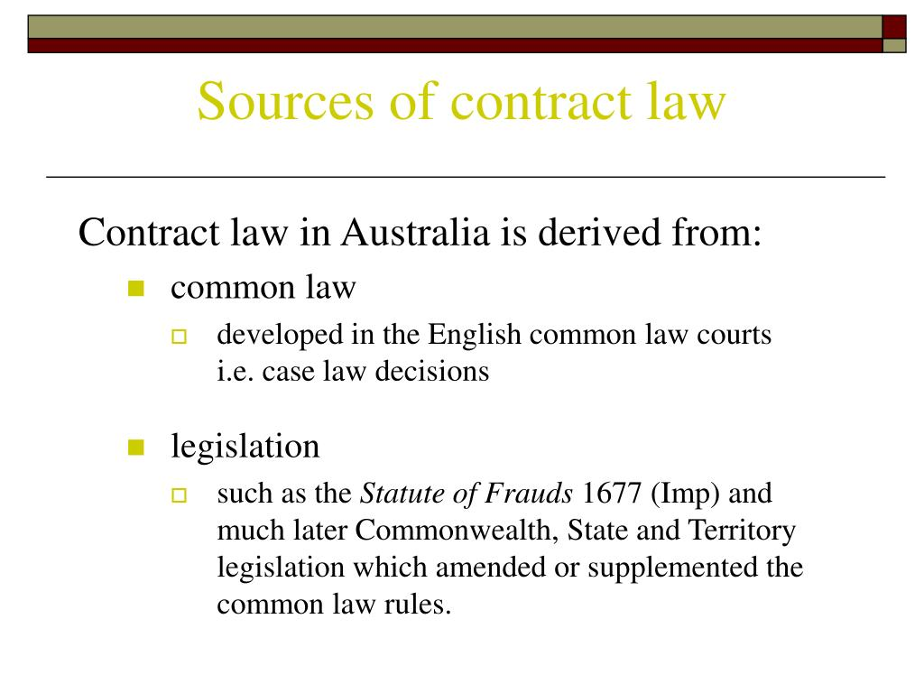 common law contracts