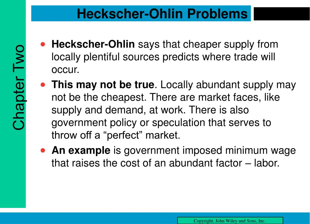Heckscher-Ohlin Problems