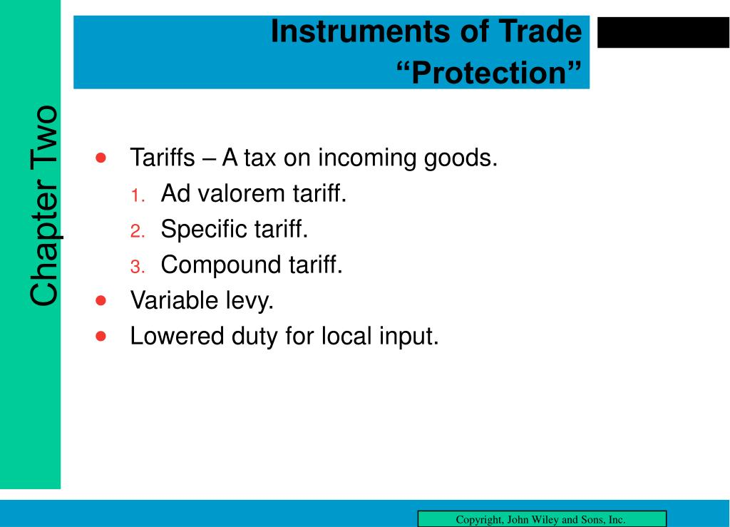 "Instruments of Trade ""Protection"""