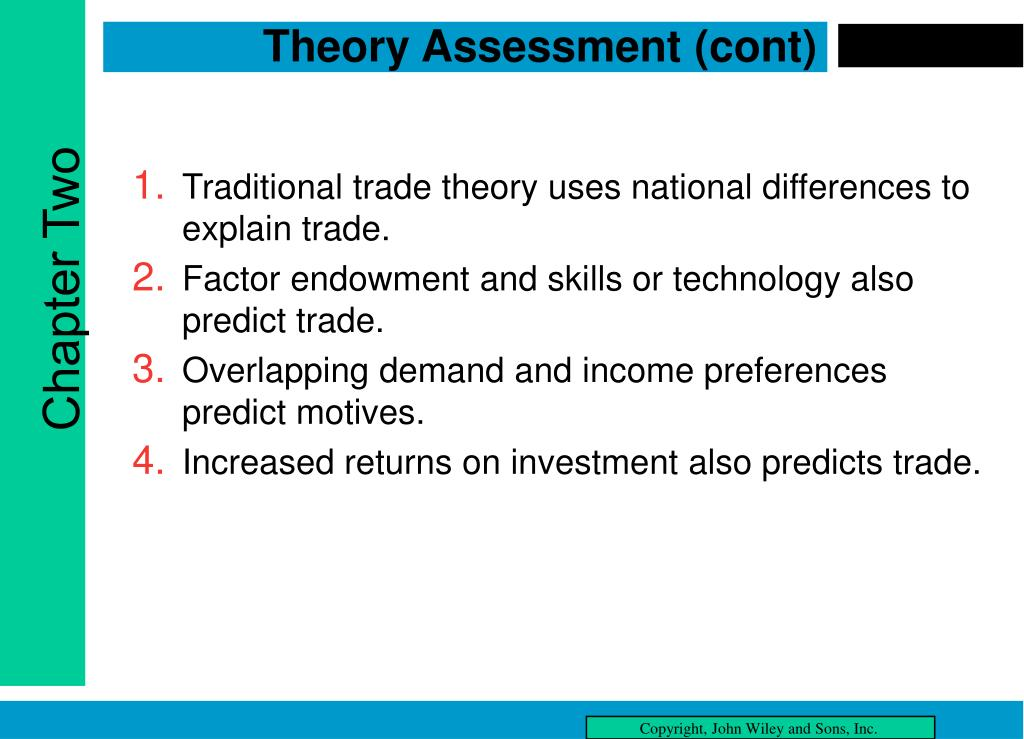 Theory Assessment (cont)