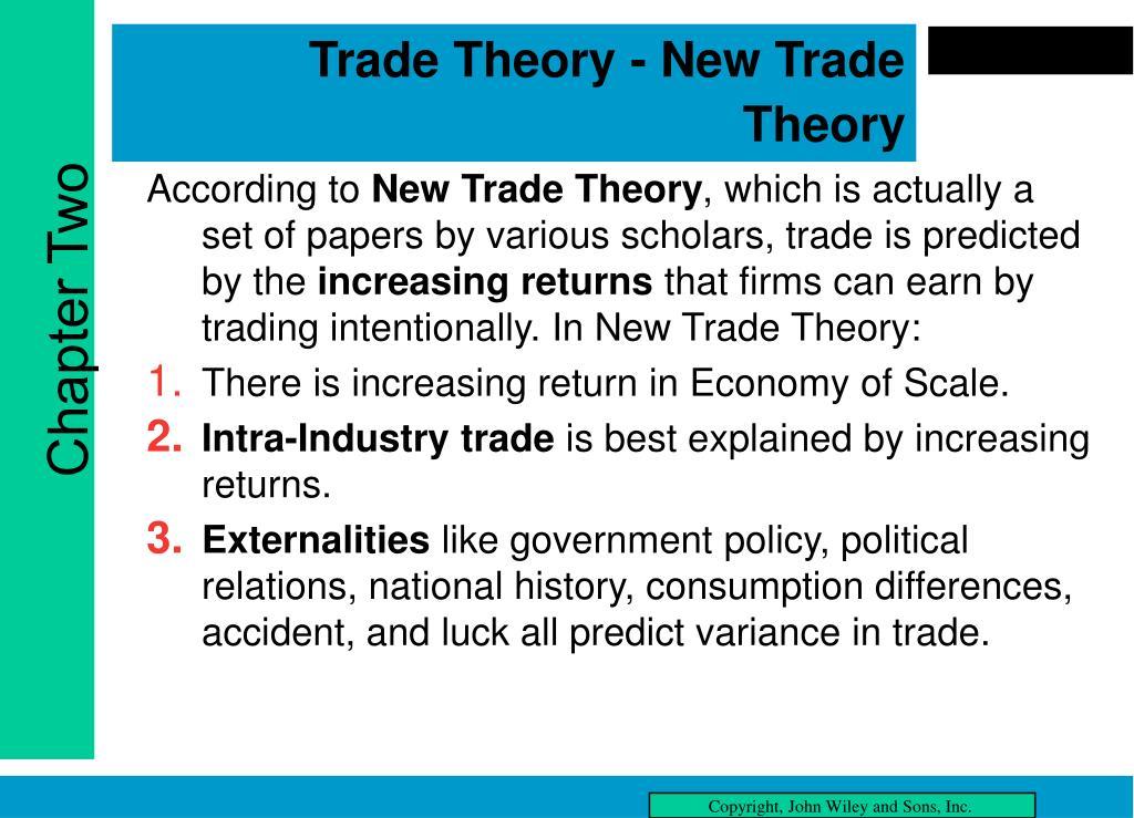 Trade Theory - New Trade