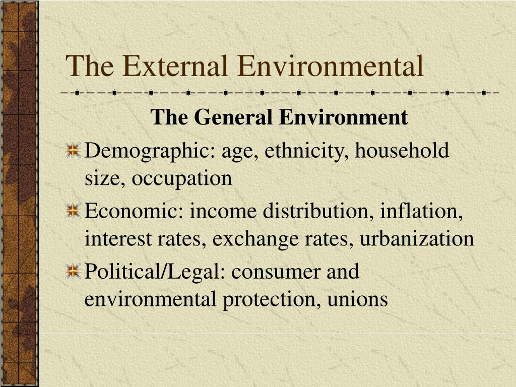 The External Environmental