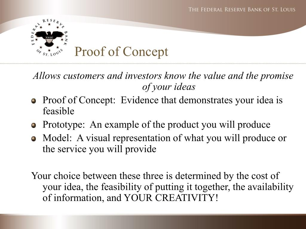 Proof concept business plan