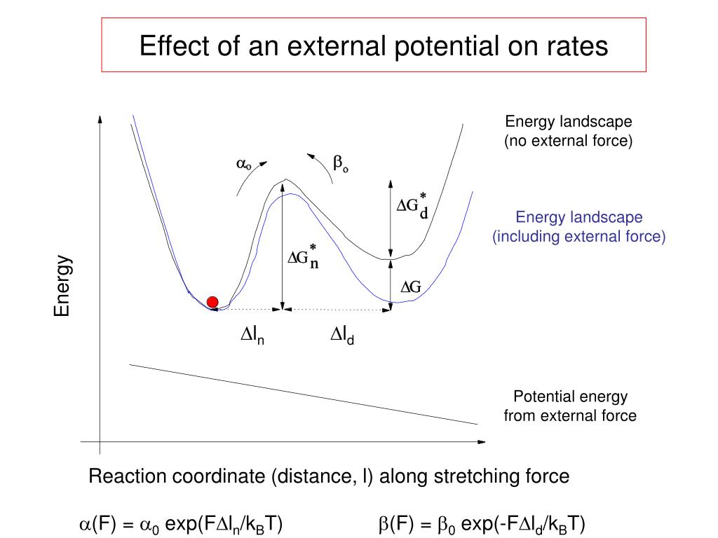 Effect of an external potential on rates