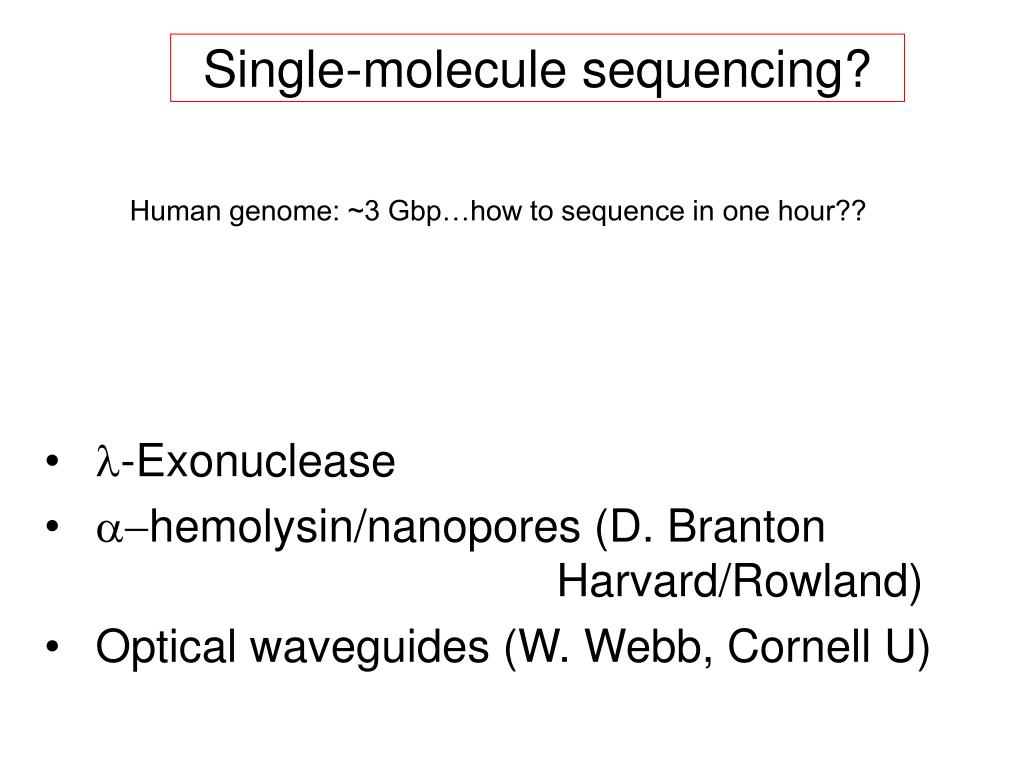Single-molecule sequencing?