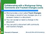 collaborating with a workgroup using comments and tracked changes cont15