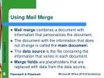 using mail merge