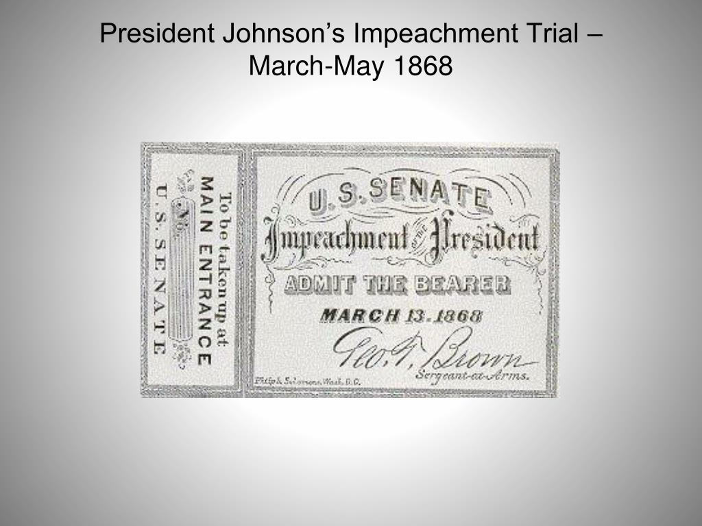 presidential impeachment trials Read what brett kavanaugh wrote about indicting a president and presidential impeachment go to main menu  the indictment and trial of a sitting president, moreover, would cripple the.