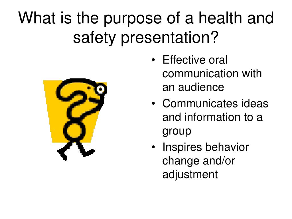 purpose of a health and safety A health and safety policy ensures that the employer complies with the occupational safety and health act and relevant state legislation it provides guidelines for establishing and.