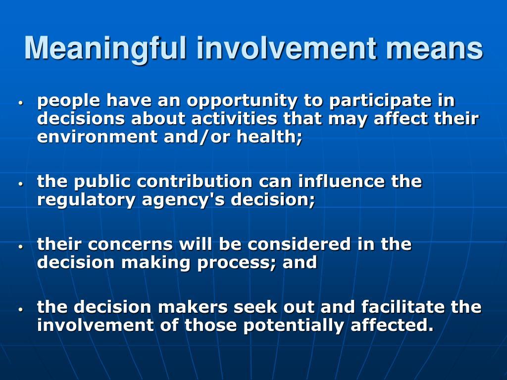 involvement definition