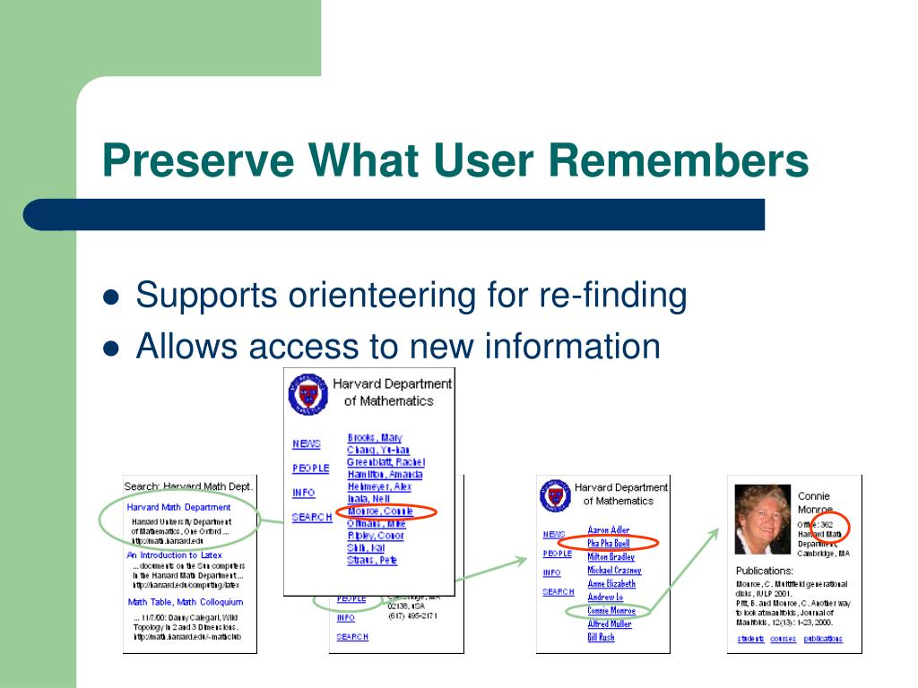 Preserve What User Remembers