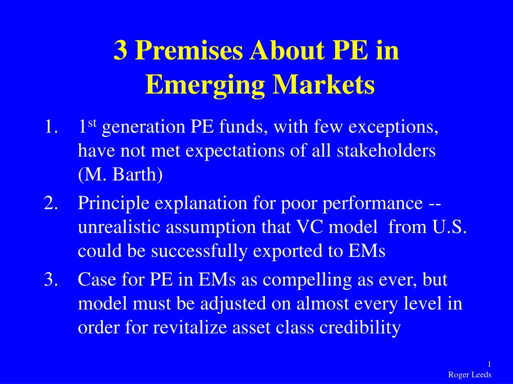3 Premises About PE in