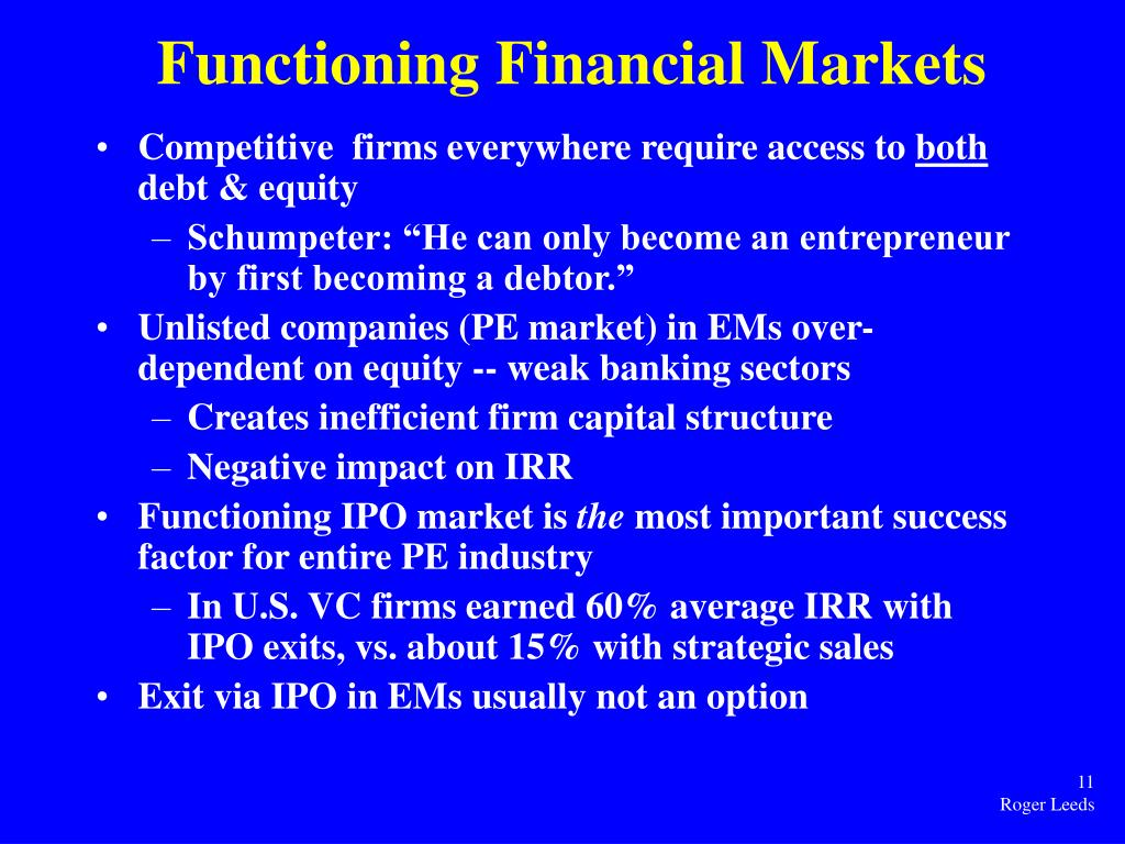 Functioning Financial Markets