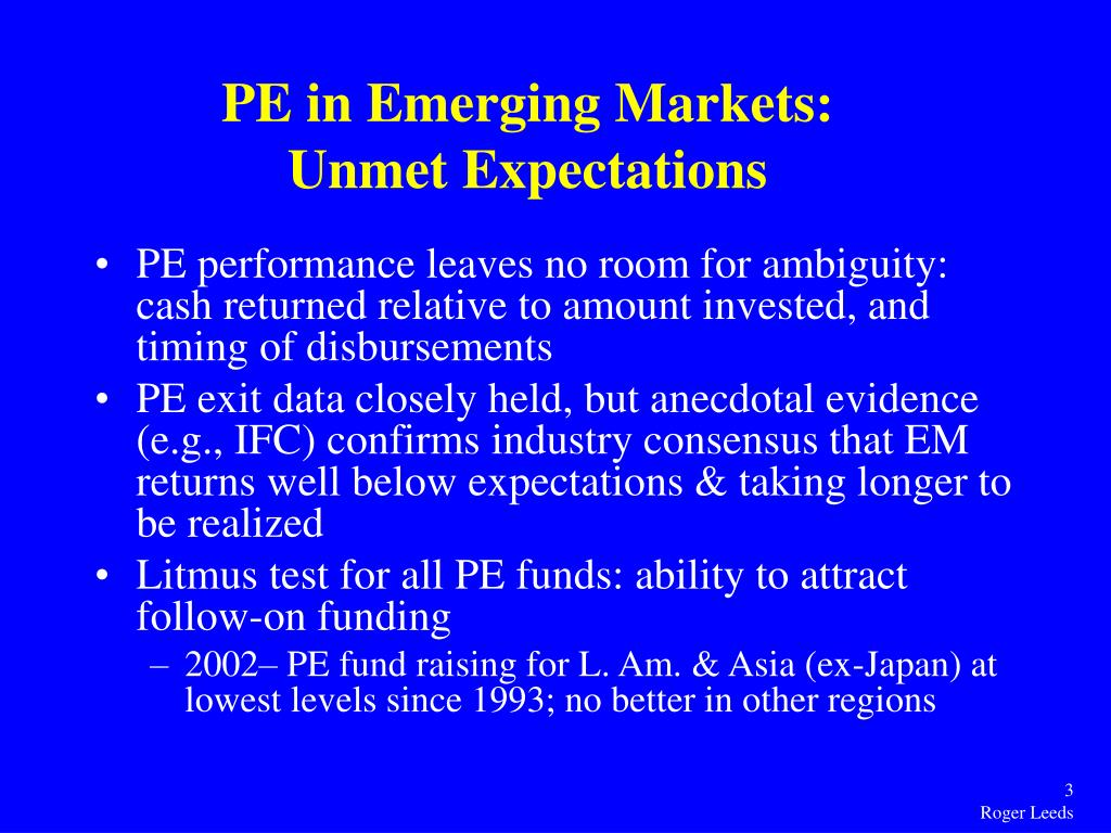 PE in Emerging Markets:
