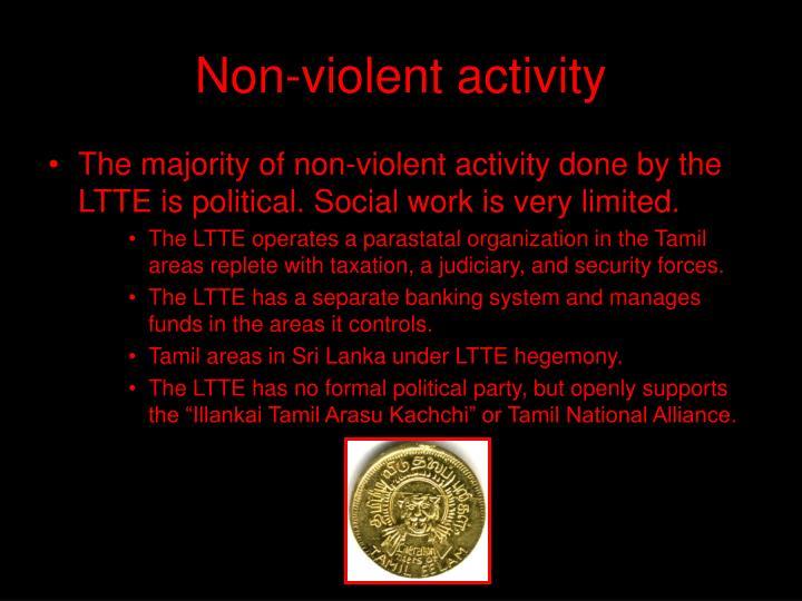 Non-violent activity
