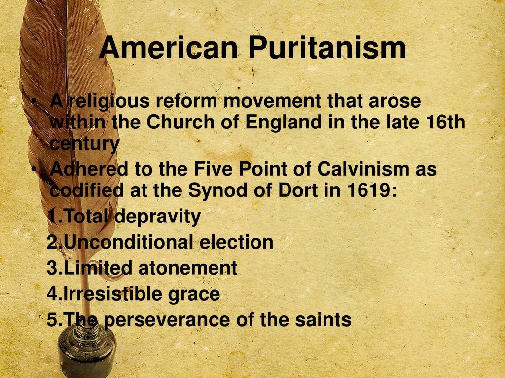 American Puritanism