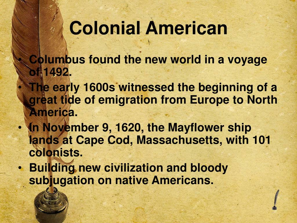 Colonial American