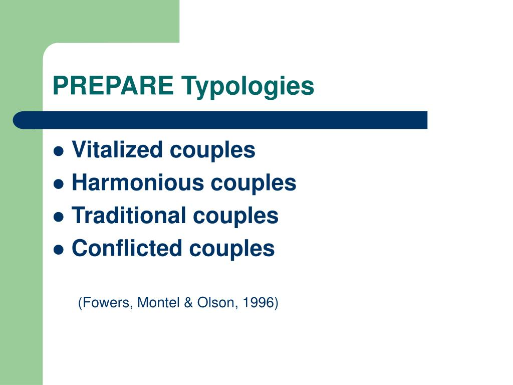 PREPARE Typologies