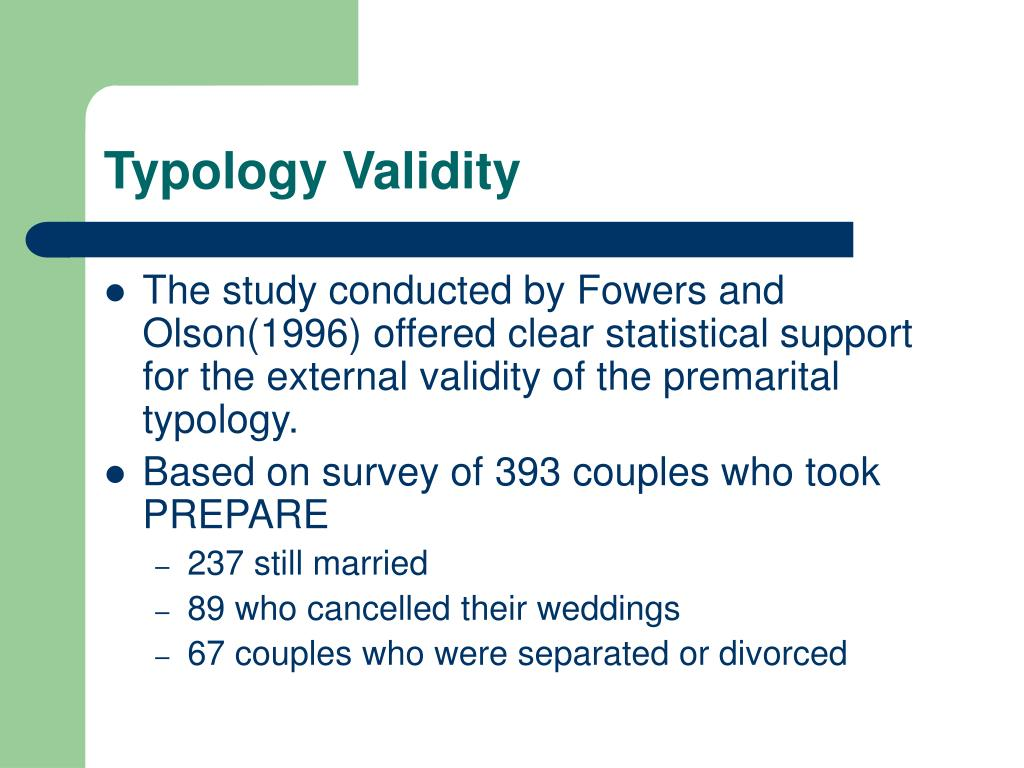 Typology Validity