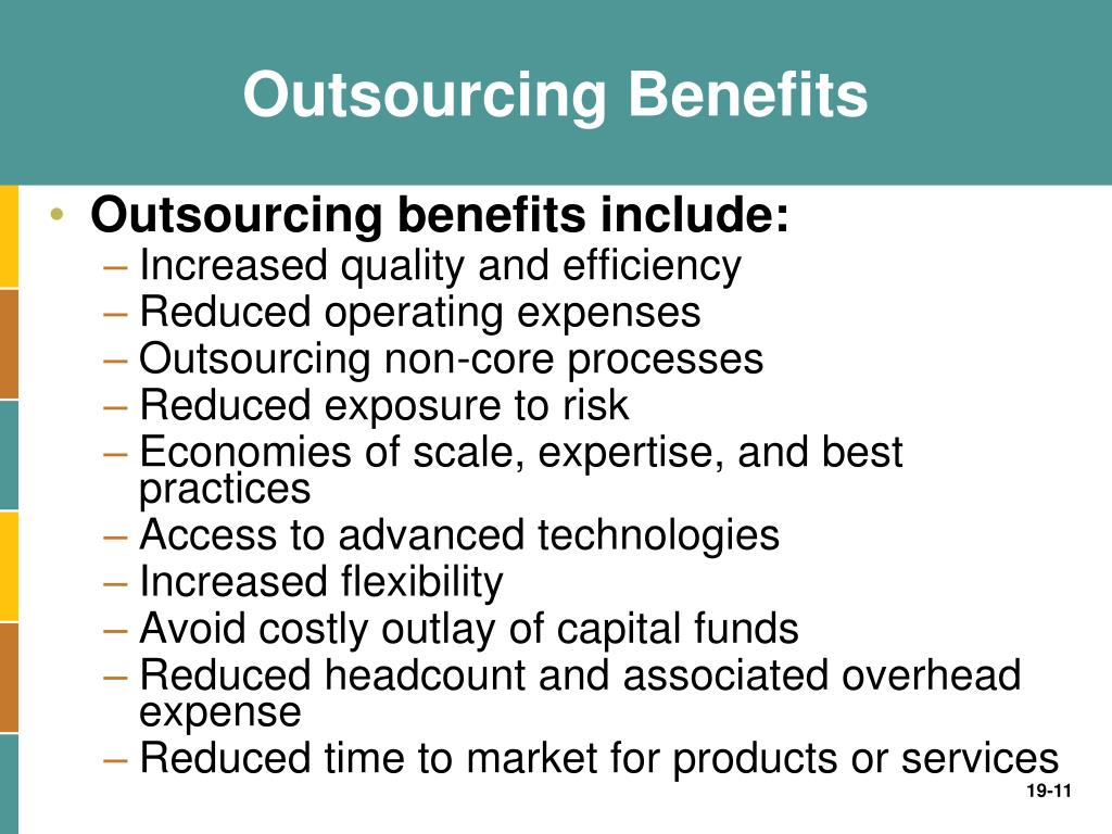 who benefits from the outsourcing of 16 the park place economist, volume xii opinion: the benefits and costs of outsourcing jobs george coontz with today's consumer stretching the dollar.