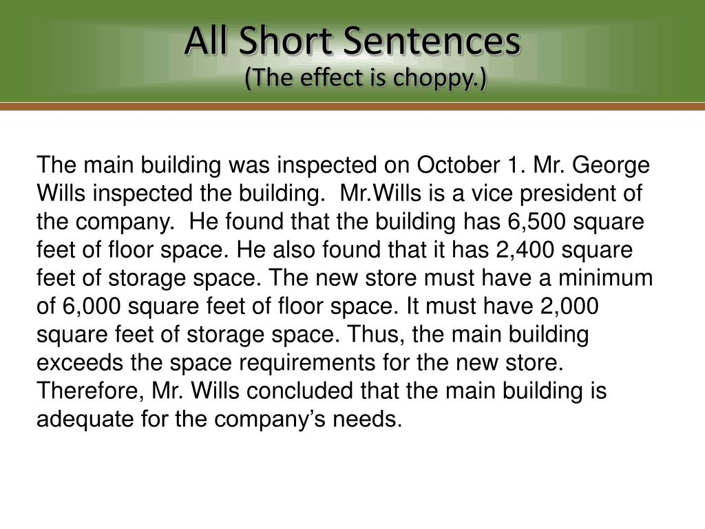 Ppt construction of clear sentences and paragraphs for Sentence of floor