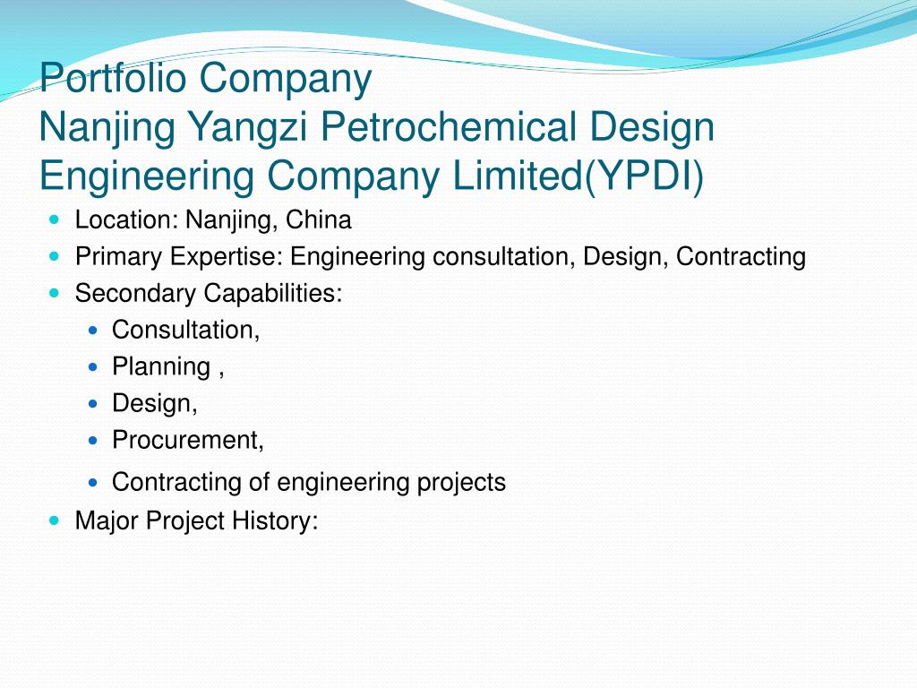 Ppt prc subcontractors for the international oil gas for Design and engineering companies