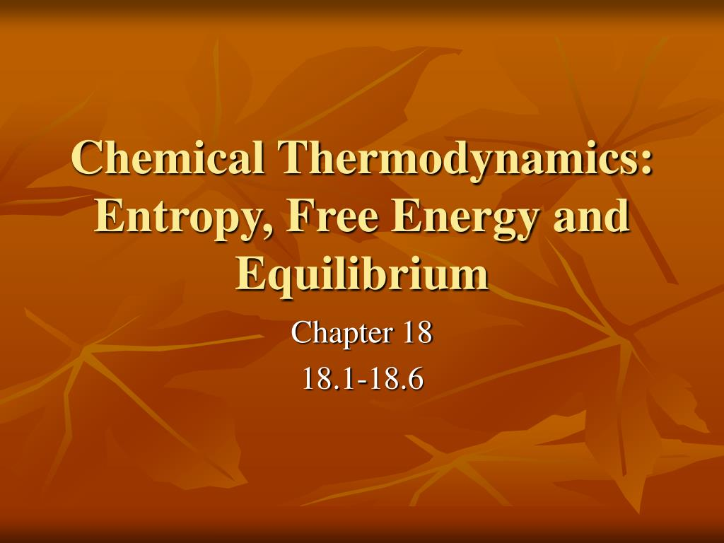 entropy and energy relationship