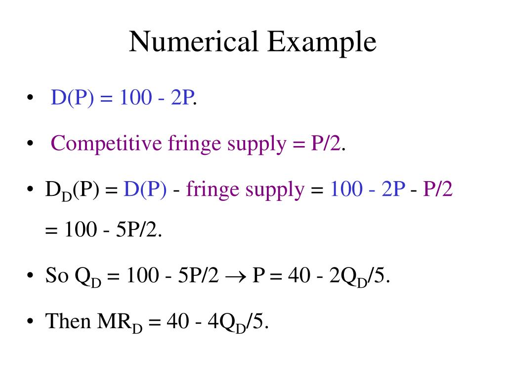 Numerical Example
