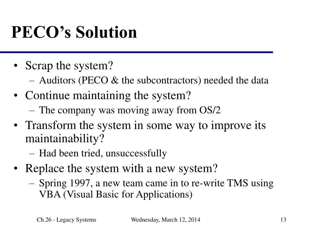 PECO's Solution