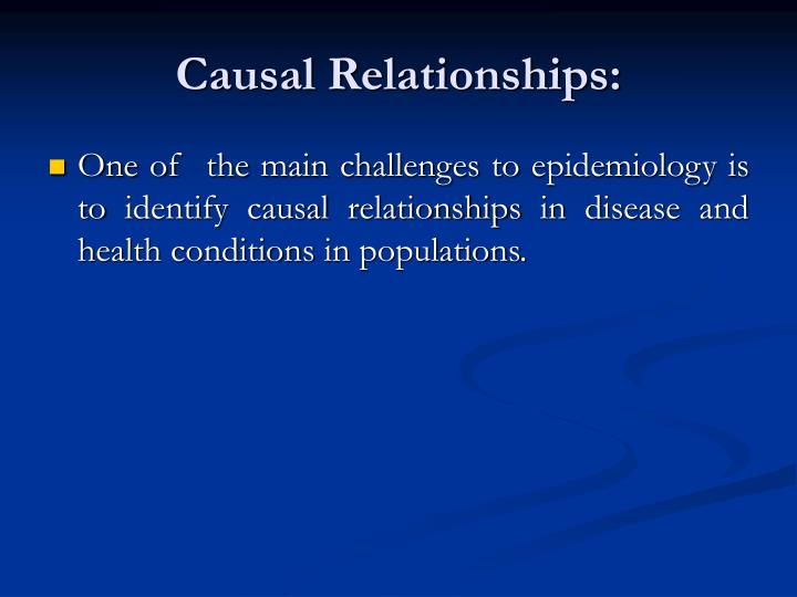 causal relationship epidemiology of cancer
