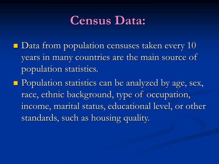 Census Data: