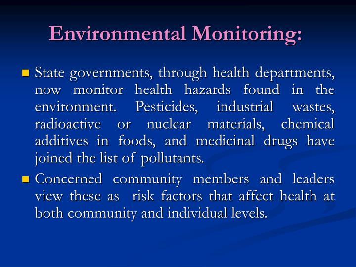 Environmental Monitoring: