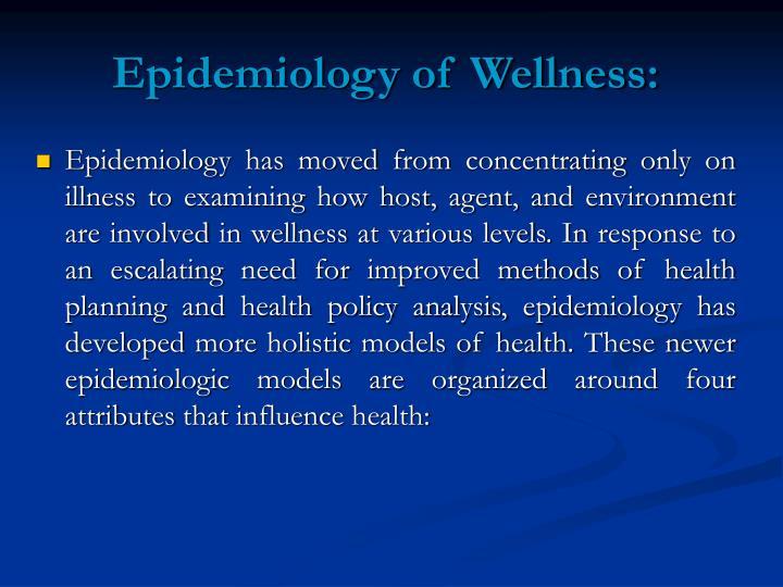 Epidemiology of Wellness: