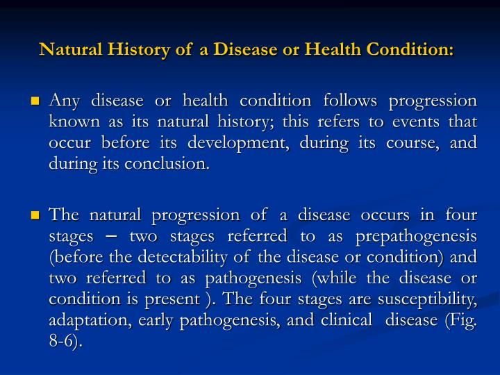 Natural History of a Disease or Health Condition: