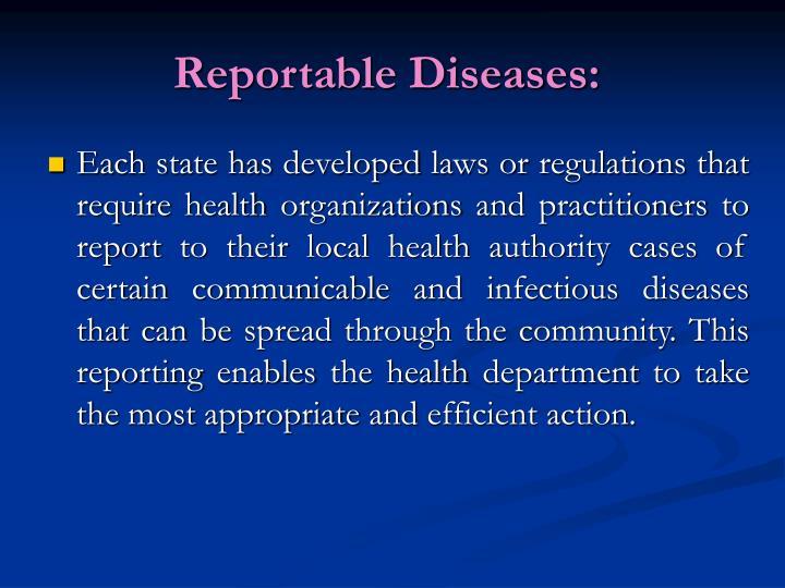Reportable Diseases: