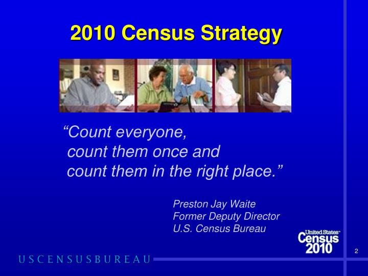 2010 census strategy