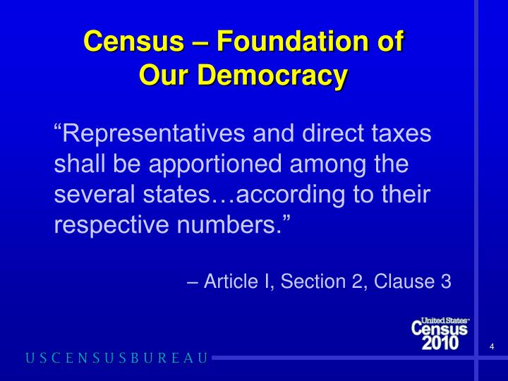 Census – Foundation of