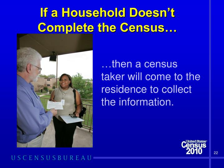 If a Household Doesn't Complete the Census…