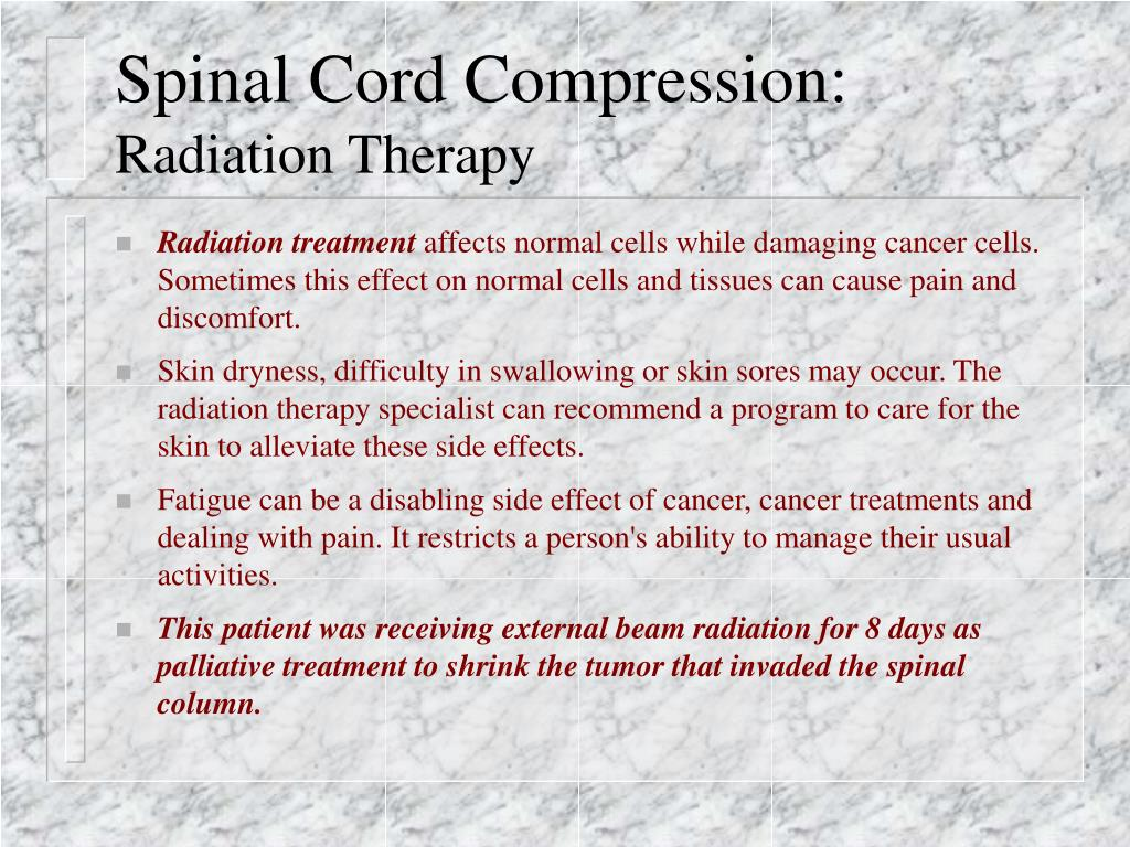 Ppt Spinal Cord Compression A Case Study Powerpoint