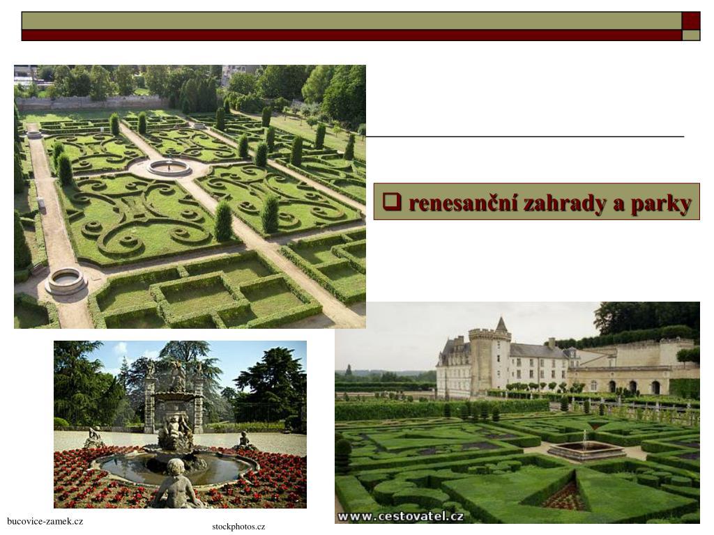 renesanční zahrady a parky