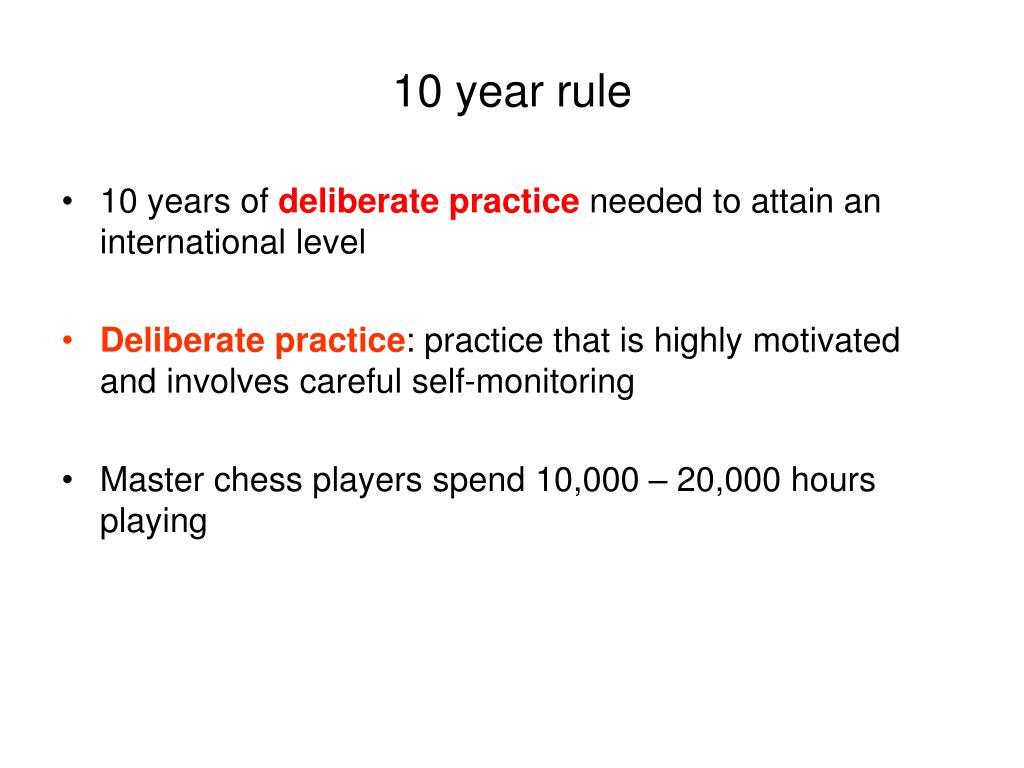 10 year rule