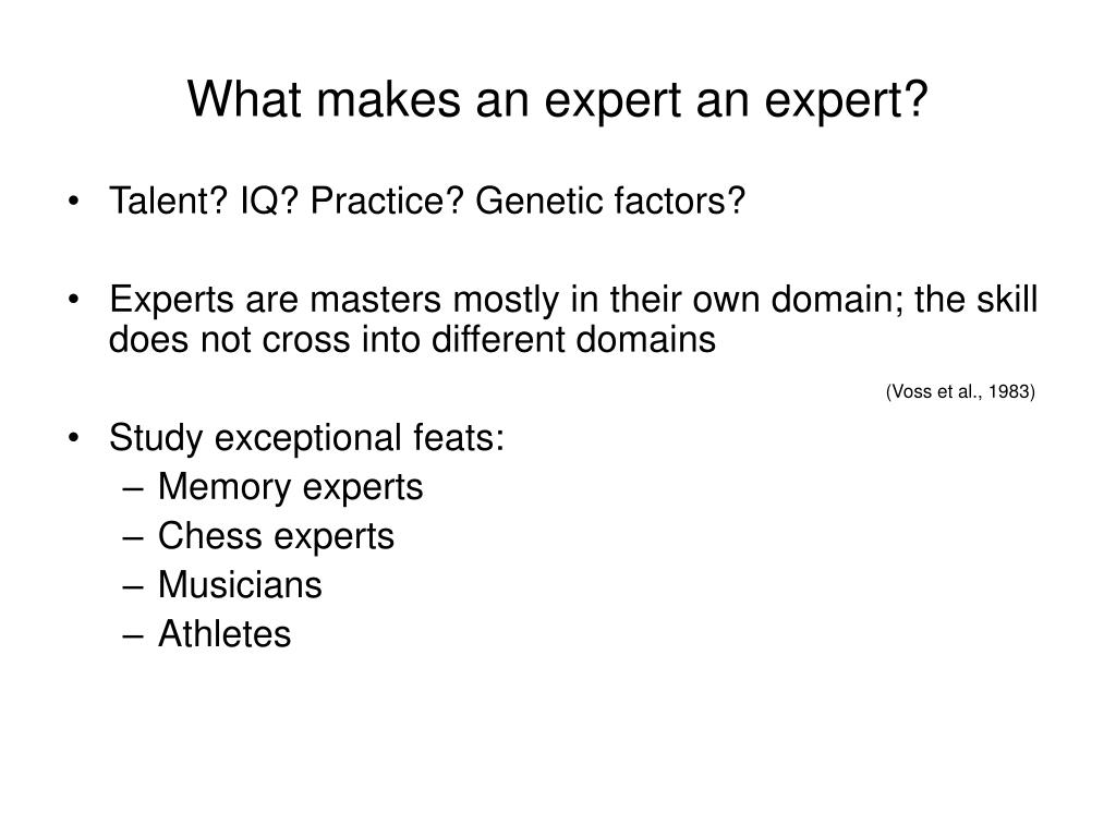 What makes an expert an expert?