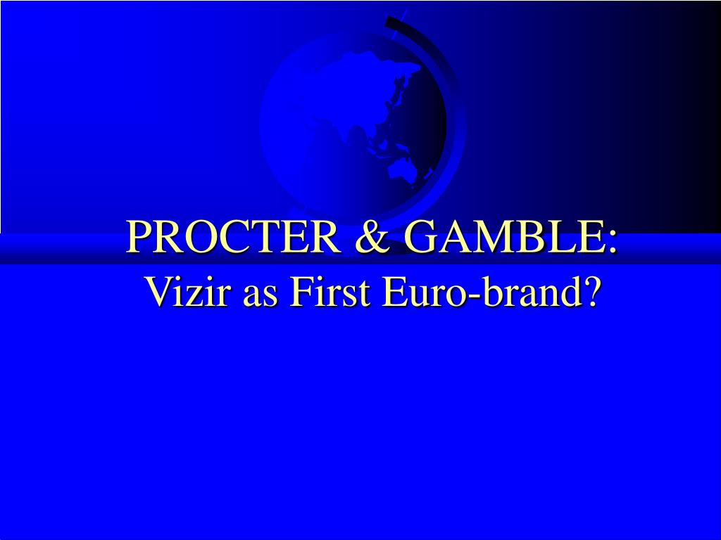 PROCTER & GAMBLE: