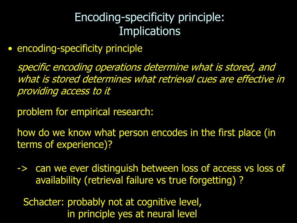 Encoding-specificity principle: