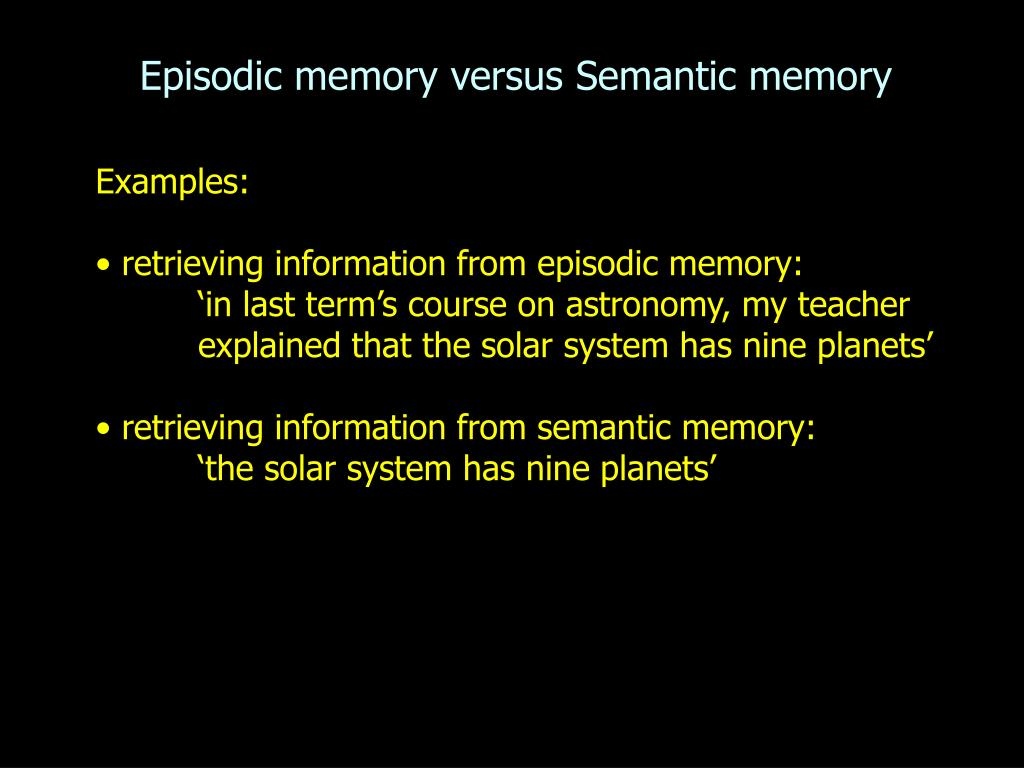 Difference Between Declarative and Non-declarative Memory: Listed