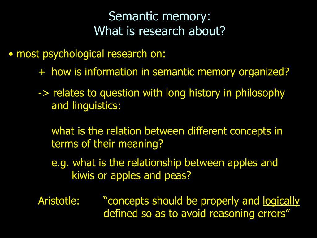 Semantic memory: