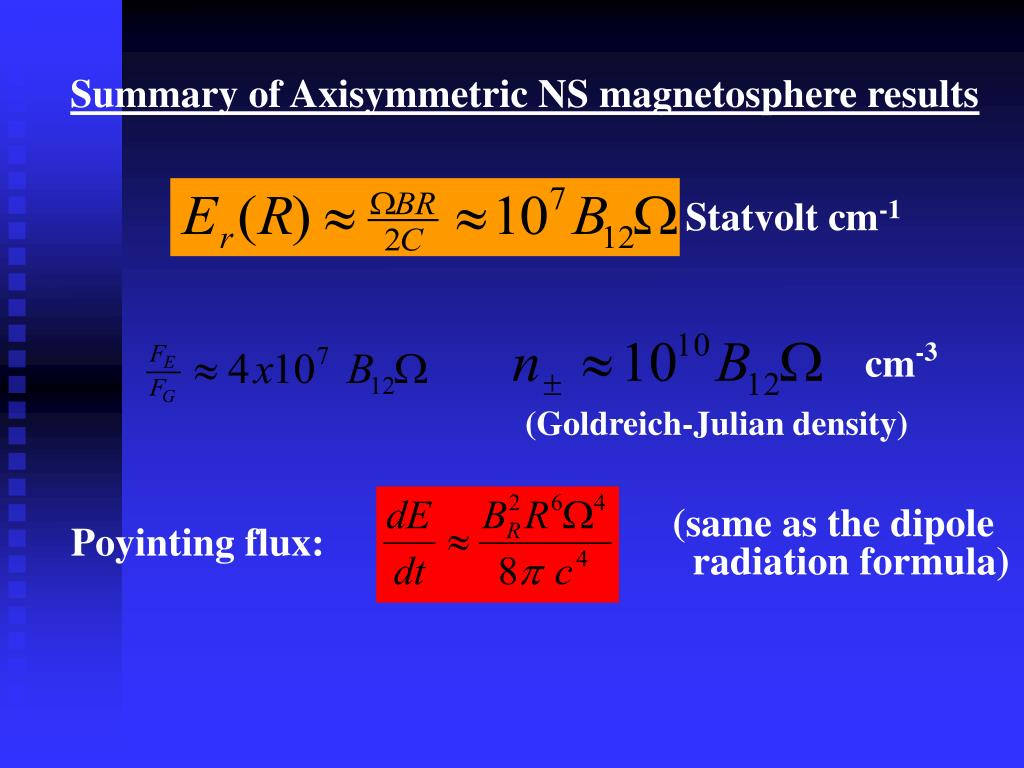 Summary of Axisymmetric NS magnetosphere results