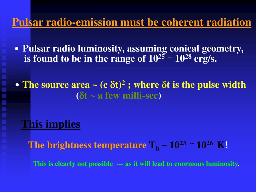 Pulsar radio-emission must be coherent radiation