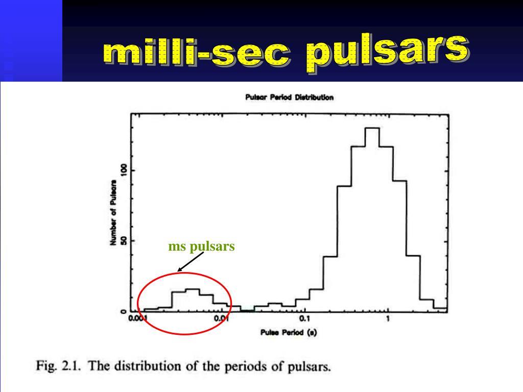 milli-sec pulsars